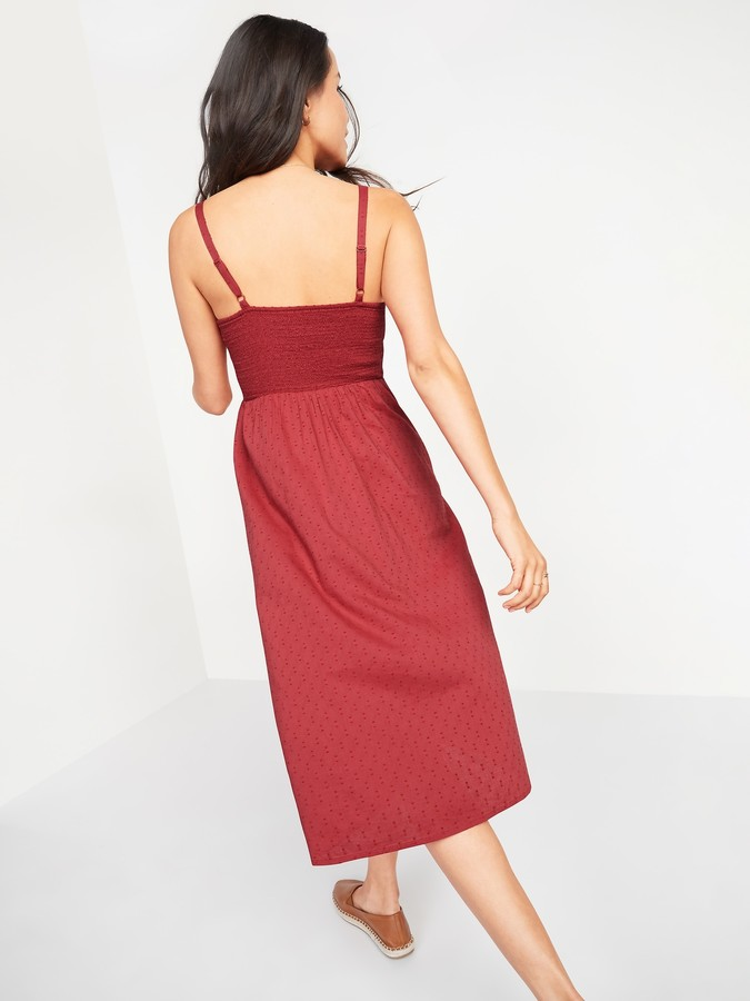 Thumbnail for your product : Old Navy Smocked Textured Clip-Dot Fit & Flare Cami Midi Dress for Women