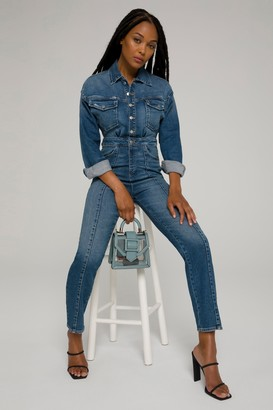 Good American Committed To Fit Jumpsuit | Blue190