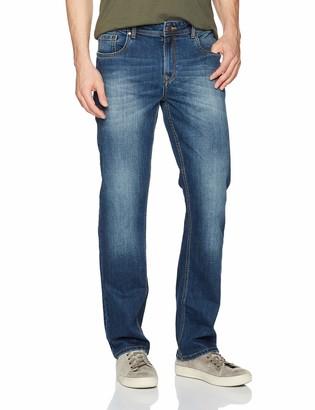 Comfort Denim Outfitters Men's Bootcut Fit Jeans 40Wx32L Dark Blue