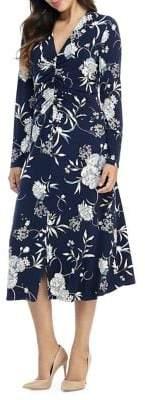 Maggy London Floral V-Neck Dress