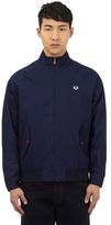 Fred Perry Navy Stitched Logo Harrington Jacket
