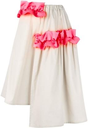 PASKAL clothes 'Ruffle Detail' asymmetrical skirt