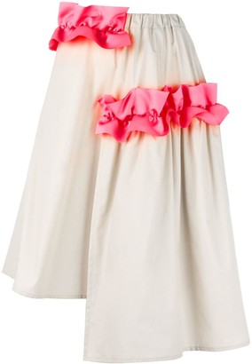 PASKAL clothes 'Ruffle Detail' asymmetrical skirt
