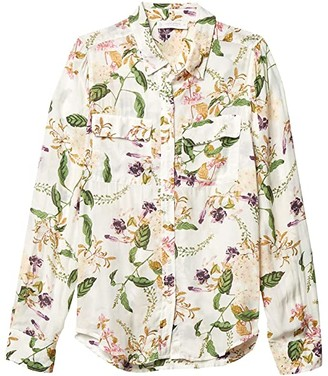 Lucky Brand Classic Utility Shirt (Natural Multi) Women's Clothing