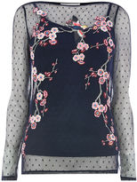 Oasis Embroidered Mesh Top