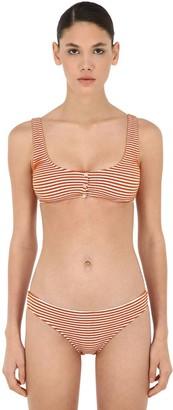 Albertine Striped Bralette Bikini Set