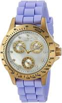 Invicta Women's 'Speedway' Quartz Stainless Steel and Silicone Casual Watch, Color: Purple (Model: 21975)