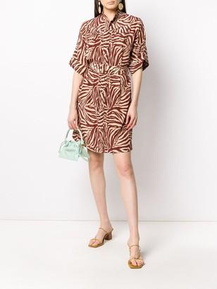 Zimmermann Silk Zebra Print Shirt Dress