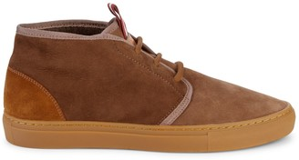 Bally Hershal Shearling-Lined Suede Sneakers