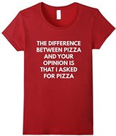 Men's Funny Pizza Sarcastic Opinion t-shirt - Food Shirts XL
