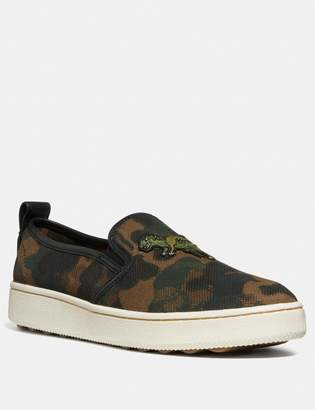Coach C115 Slip On With Wild Beast Print