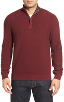 John W. Nordstrom Half Zip Merino Wool Sweater