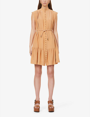 Zimmermann Button-down sleeveless silk-crepe de chine midi dress