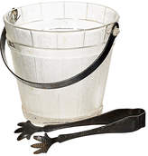 One Kings Lane Vintage 1950s Textured Ice Bucket with Tongs