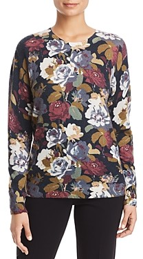Bloomingdale's C By C by Floral Print Cashmere Sweater - 100% Exclusive