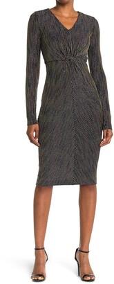 Rachel Roy Long Sleeve Knot Front Dress