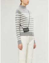 Vince High-neck stripe-print cashmere jumper