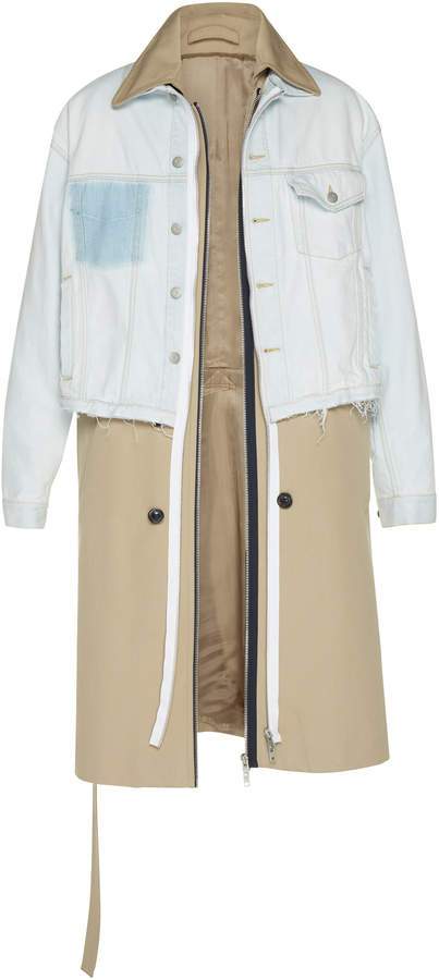 Maison Margiela Reversible Twill and Denim Trench Coat