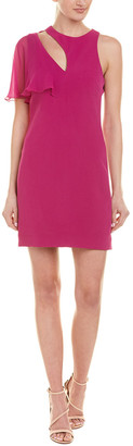 Cushnie Chiffon Trim Sheath Dress