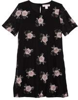 Zoe and Rose Flower Embroidered Mesh Dress