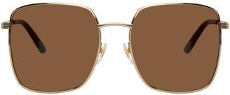 Gucci Gold Square Sunglasses
