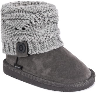 Muk Luks Girls Patti Boots-Grey Fashion 1