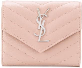 Saint Laurent Monogram compact tri-fold wallet