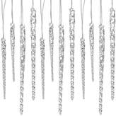 """Kurt Adler 24 piece Set 3.5""""-5.5"""" Assorted Clear Glass Icicle Ornaments - Set of 2 (2)"""
