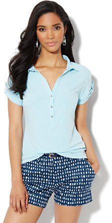 New York & Co. Short-Sleeve Knit Top