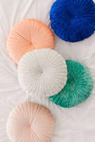 Urban Outfitters Shelly Round Velvet Pillow