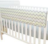 T.L.Care TL Care® Crib Rail Cover in Celery and Grey Zigzag
