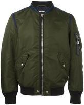 Diesel side pocket bomber jacket - men - Polyamide/Polyester/Spandex/Elastane/Nylon - S
