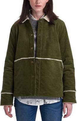 Barbour Tyneside Faux Shearling Trim Corduroy Shirt Jacket