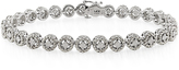 Ice Julie Leah 1 CT TW Diamond Round Tennis Bracelet in Sterling Silver