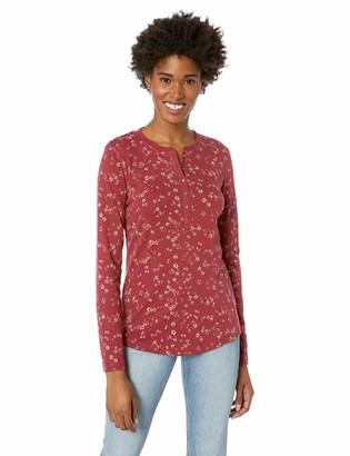 Chaps Women's Long Sleeve Cotton SLUB 1X1 Rib-Knit Shirt