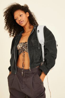 BDG Ellie Corduroy Hooded Cropped Jacket
