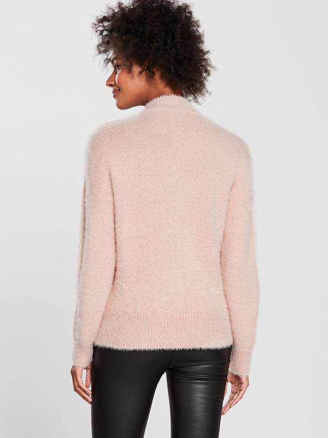 5d09ed885aa Pink Cable Knit Jumper - ShopStyle UK