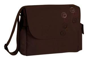 Lassig MMB0601 MBP0601 Baby Changing Messenger Bag Circles Choco - Dark Brown