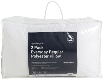 Heritage Everyday Regular Polyester Pillow 2 Pack Medium-2pk