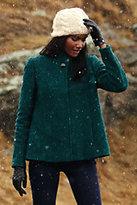 Classic Women's Petite Textured Wool Jacket-Dark Ginger Heather