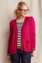 Classic Women's Long Sleeve Boxy V-neck Cardigan-Umber