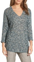 Nic+Zoe Women's Blue Lagoon Sweater