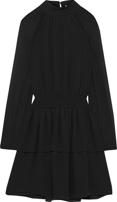 Rebecca Minkoff Zaykee Tiered Shirred Georgette Mini Dress