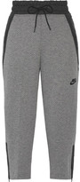 Nike Shell-trimmed Tech Fleece Cotton-blend Track Pants - Gray
