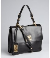 Badgley Mischka black leather 'Claire Smooth' shoulder bag