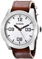 Nixon Mens Quartz Watch, Analogue Classic Display and Leather Strap A243-1113