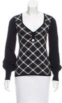 Karen Millen Plaid Knit Sweater
