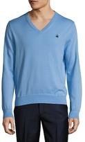 Brooks Brothers Supima Solid V-Neck Sweater