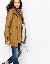 Sessun Deserter Coat in Honey Brown