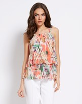 Star by Julien Macdonald Layered Abstract Print Top